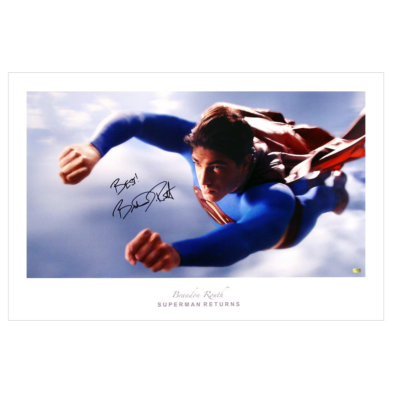 Brandon Routh Autographed Superman Returns Flight 20x30 Fine Art Photo