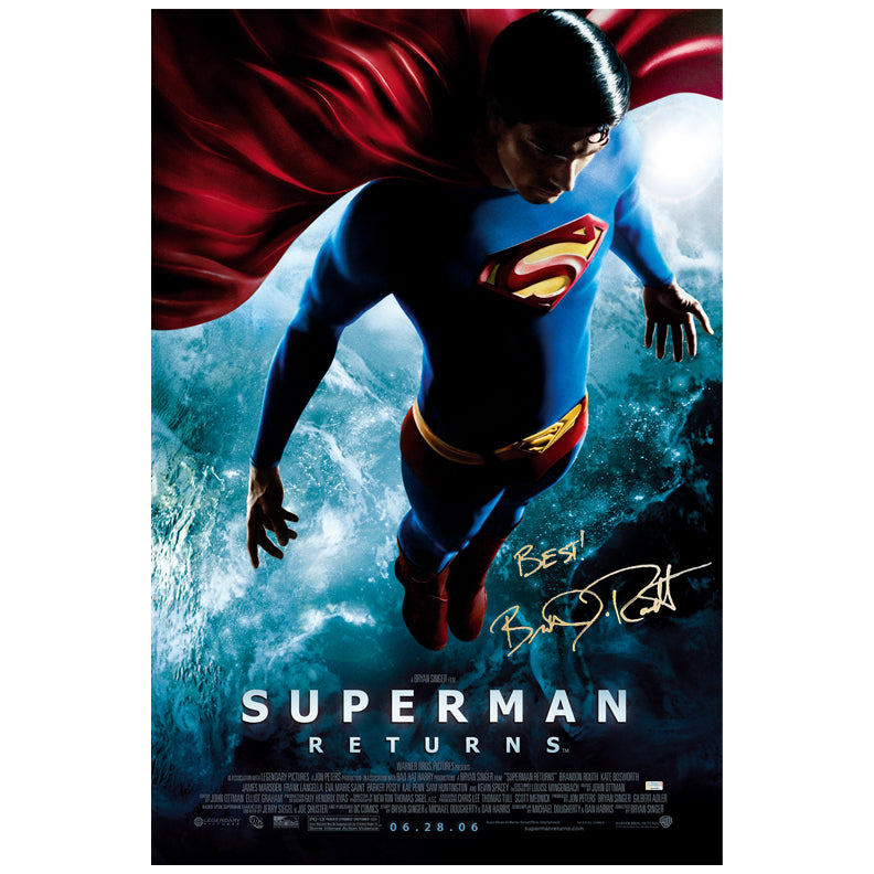 Brandon Routh Autographed Superman Returns Final 27x40 Original Poster