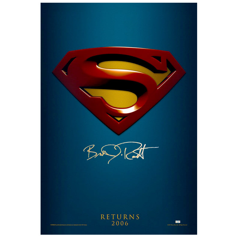 Brandon Routh Autographed Superman Returns Advance 27x40 Original Poster
