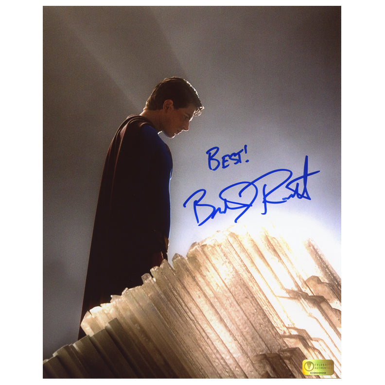 Brandon Routh Autographed Superman Returns Crystals 8x10 Photo