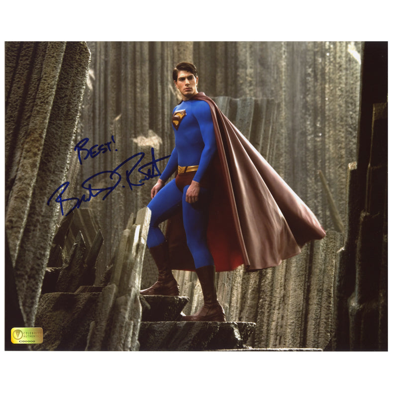 Brandon Routh Autographed Superman Returns Island 8x10 Photo