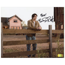 Load image into Gallery viewer, Brandon Routh Autographed Superman Returns Kent Farm 8x10 Photo