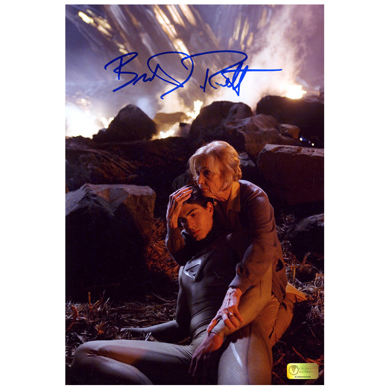 Brandon Routh Autographed Superman Returns Pod Crash 8x12 Photo