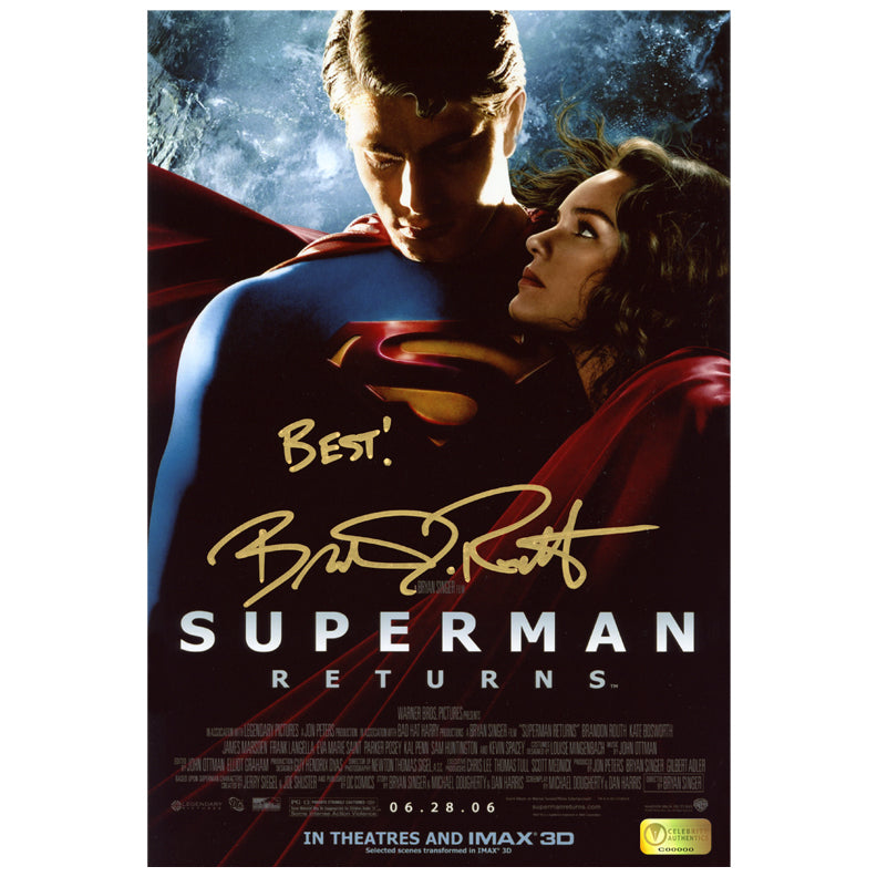 Brandon Routh Autographed Superman Returns IMAX 8x12 Photo