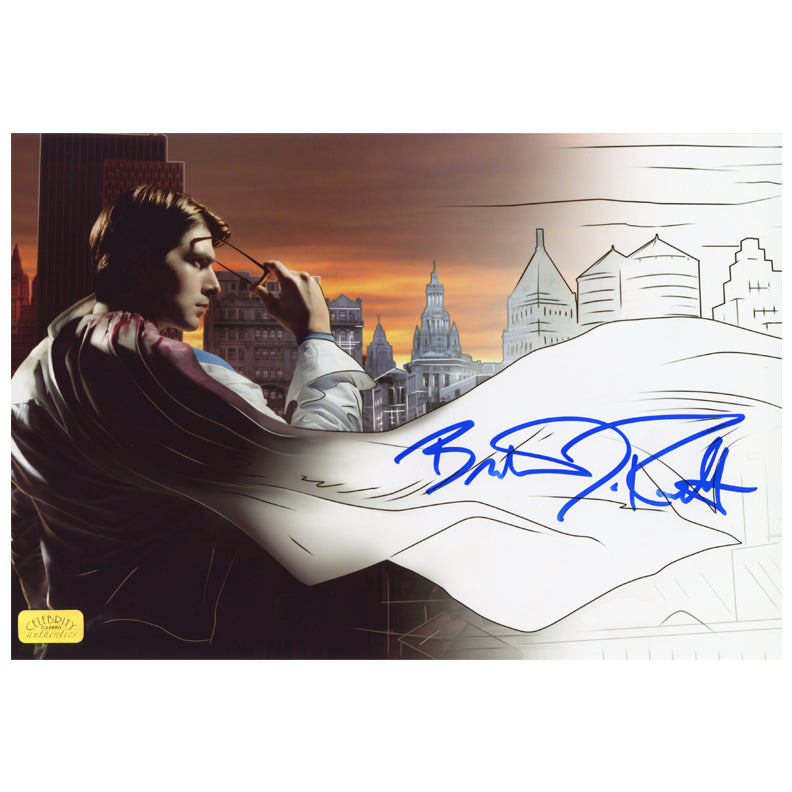 Brandon Routh Autographed Superman Returns Comic to Film 8.5x11 Photo