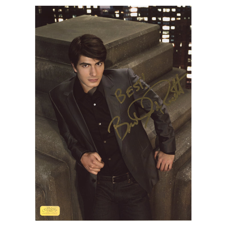 Brandon Routh Autographed Roof Top 8.5x11 Studio Photo