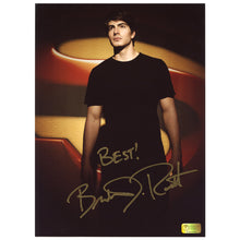 Load image into Gallery viewer, Brandon Routh Autographed Superman Returns Superman Logo 8.5x11 Photo