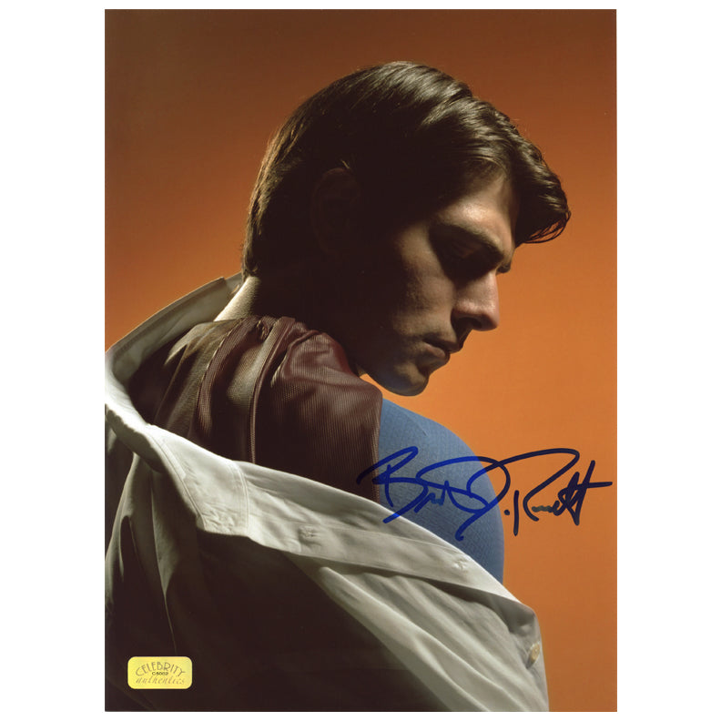 Brandon Routh Autographed Superman Returns Transition 8.5x11 Studio Photo
