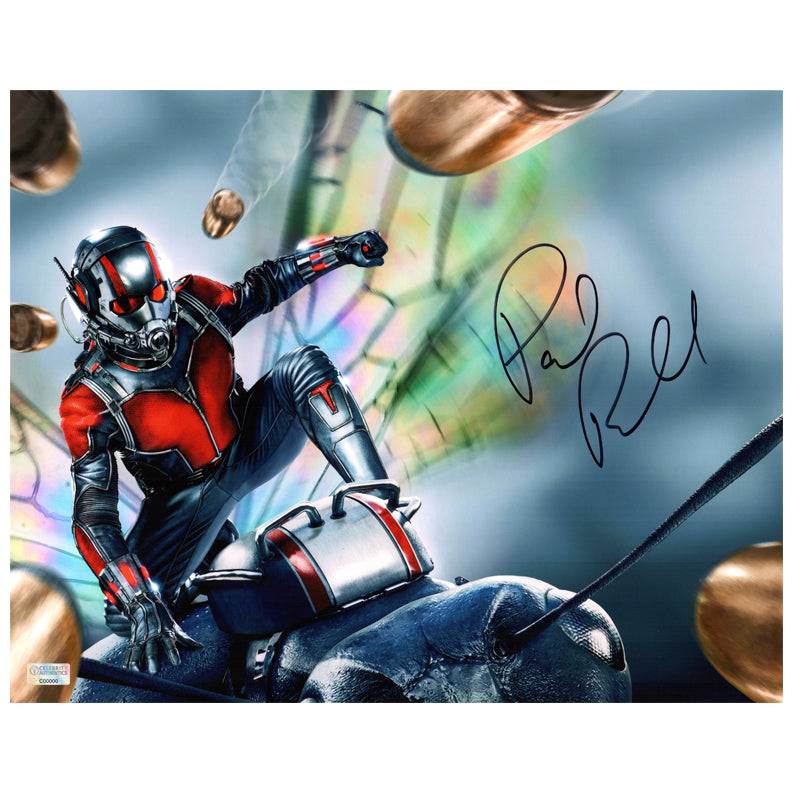 Paul Rudd Autographed Ant-Man Action 11×14 Photo