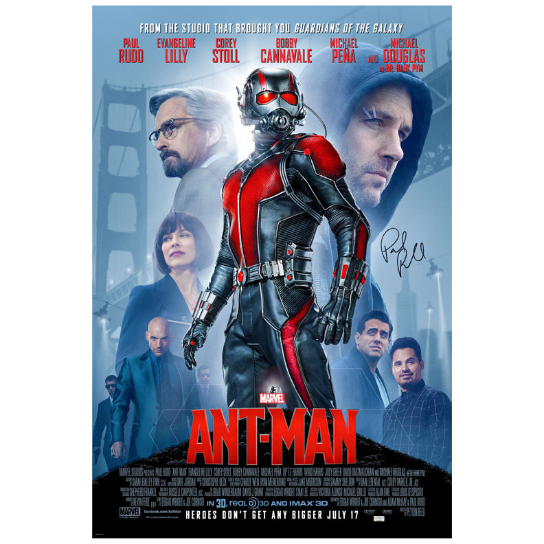 Paul Rudd Autographed 2015 Ant-Man Original 27x40 Double-Sided Movie Poster
