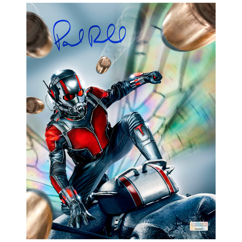 Paul Rudd Autographed Ant-Man 8×10 Action Photo