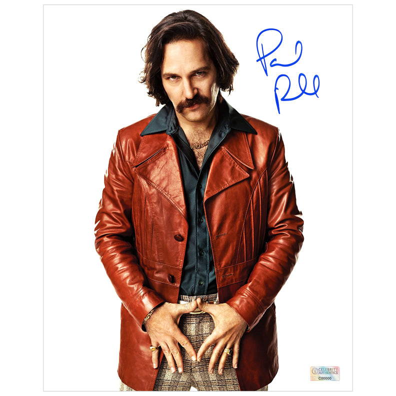 Paul Rudd Autographed Anchorman The Legend of Ron Burgundy Brian Fantana 8x10 Photo
