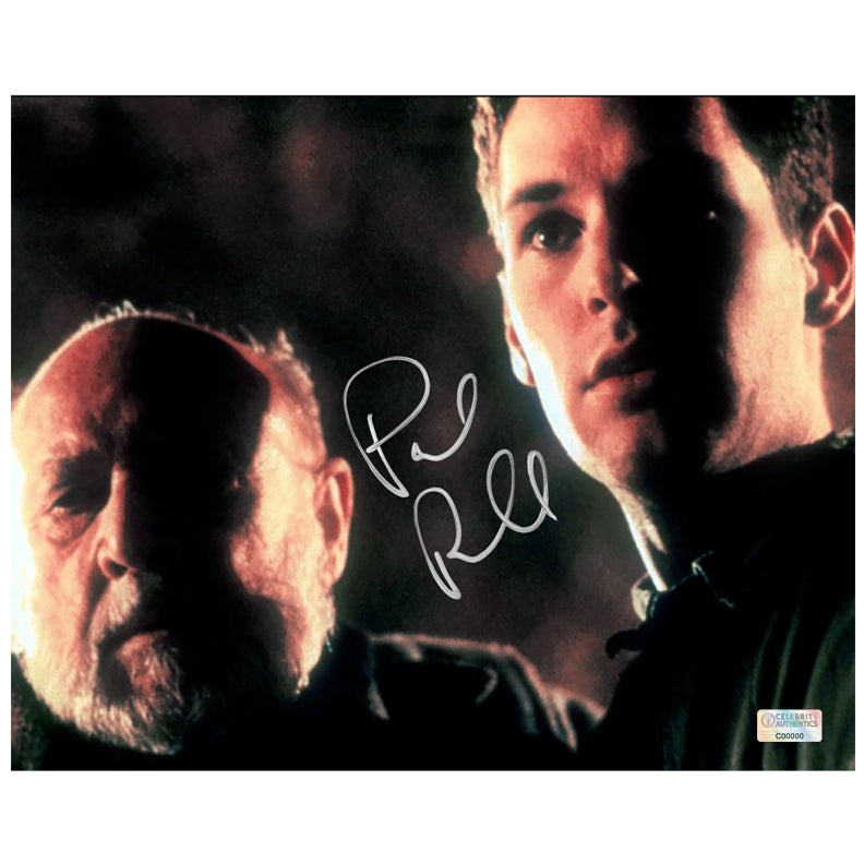 Paul Rudd Autographed Halloween: The Curse of Halloween: The Curse of Michael Myers Tommy Doyle and Dr. Loomis 8×10 Photo
