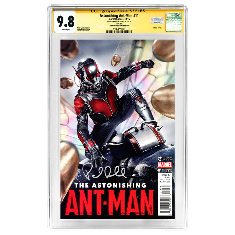 Paul Rudd Autographed Ant-Man #11 Celebrity Authentics Variant CGC SS 9.8