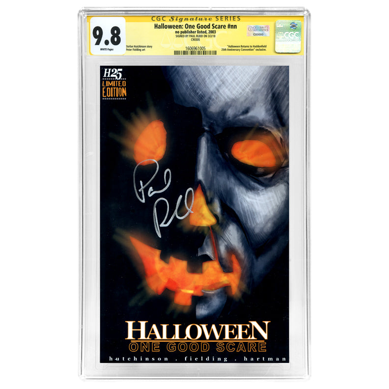 Paul Rudd Autographed Halloween: One Good Scare CGC SS 9.8