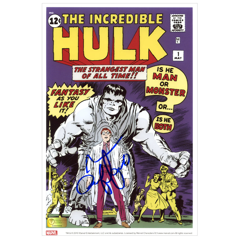 Mark Ruffalo Autographed The Incredible Hulk #1 Comic Cover 8×12 Photo