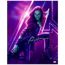 Load image into Gallery viewer, Zoe Saldana Autographed Avengers Infinity War Gamora 16x20 Photo