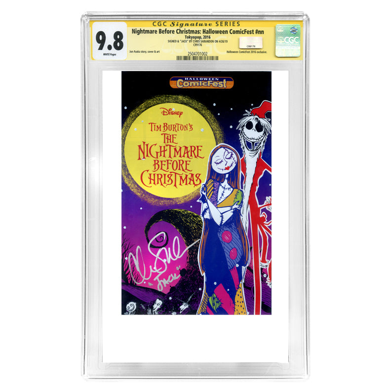 Chris Sarandon Autographed Nightmare Before Christmas: Halloween ComicFest CGC SS 9.8