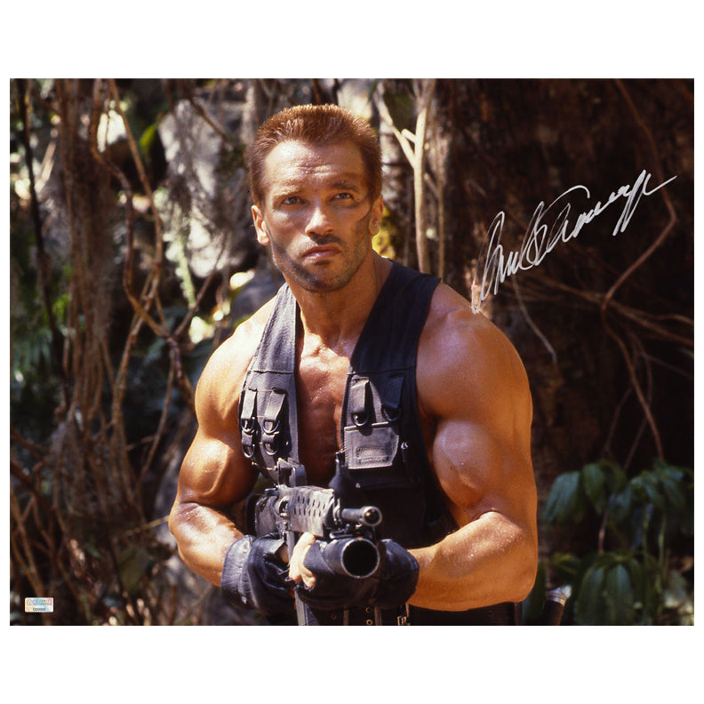 Arnold Schwarzenegger Autographed Predator The Hunt 16x20 Photo