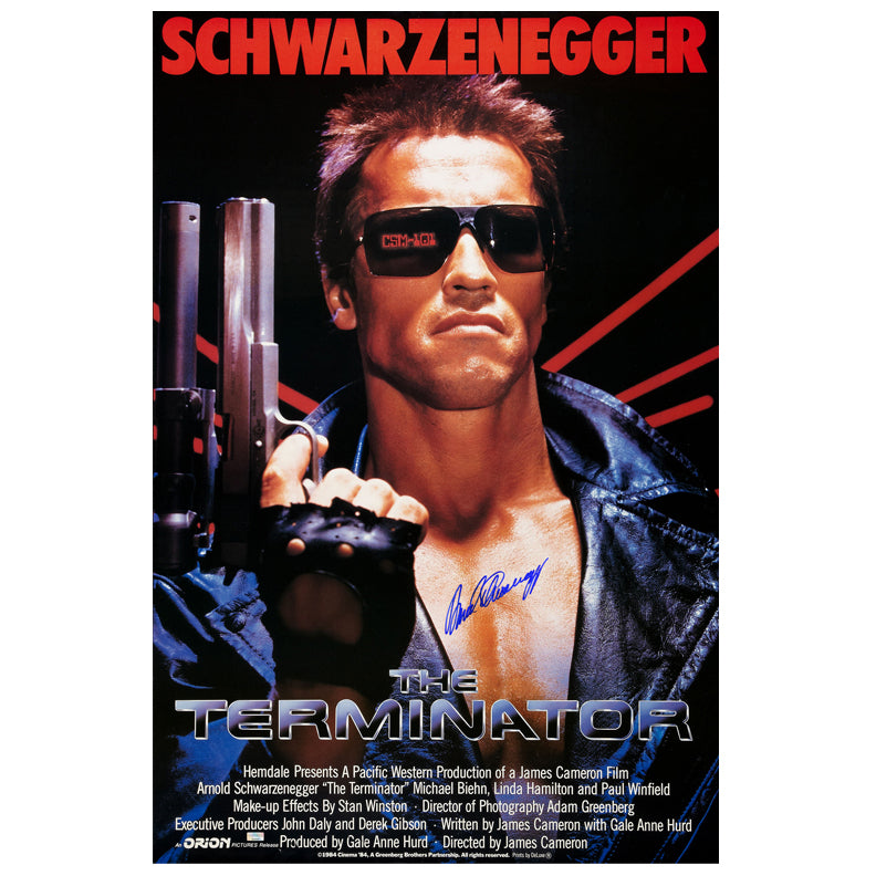 Arnold Schwarzenegger Autographed The Terminator 27×40 Poster