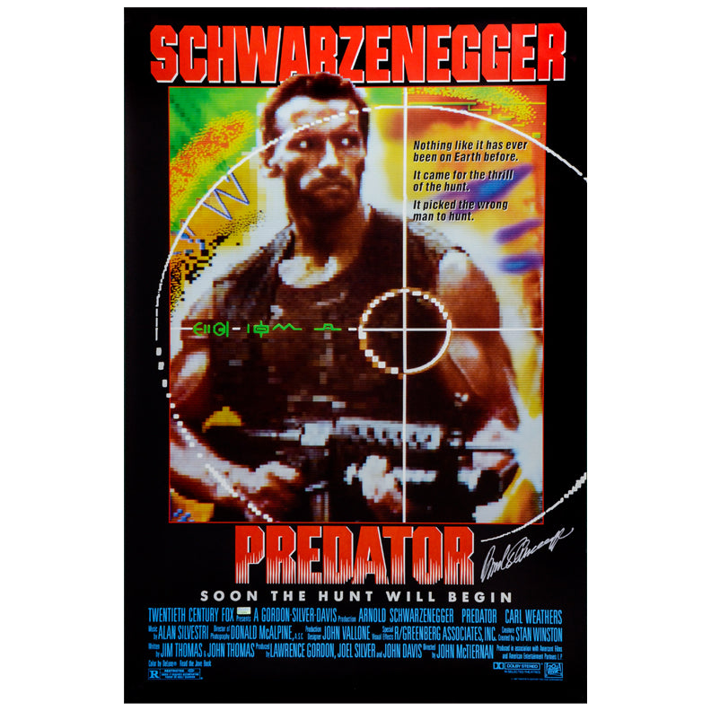 Arnold Schwarzenegger Autographed 1987 Predator Original 27x41 Single-Sided Movie Poster