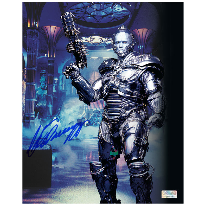 Arnold Schwarzenegger Autographed Batman & Robin Mr. Freeze 8x10 Photo