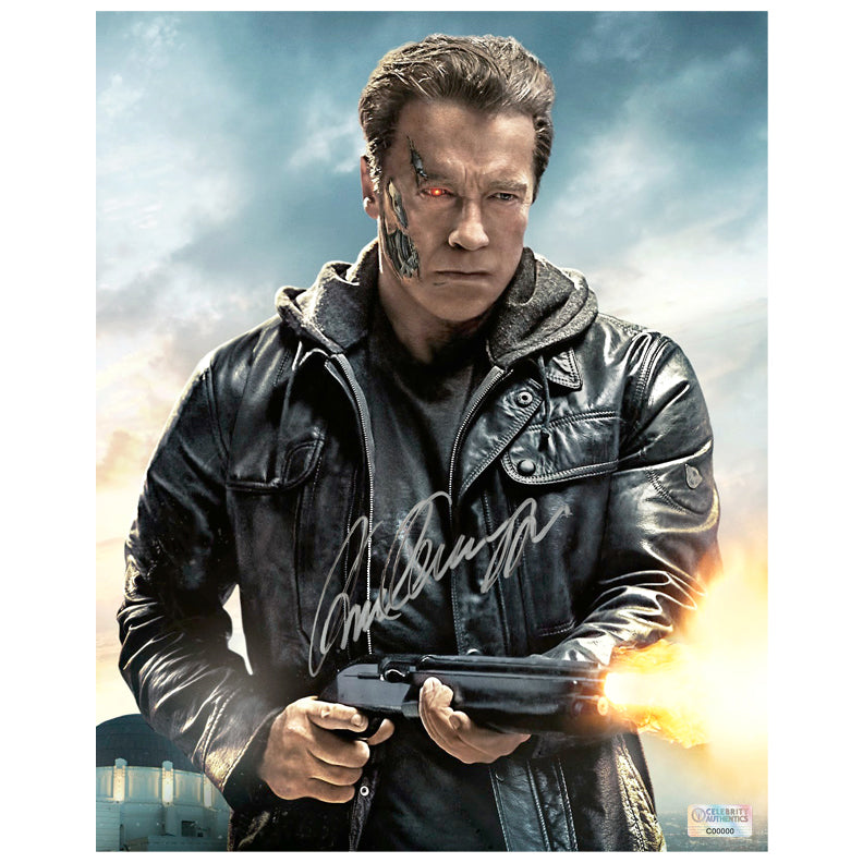 Arnold Schwarzenegger Autographed Terminator Genisys™ T800 8x10 Photo