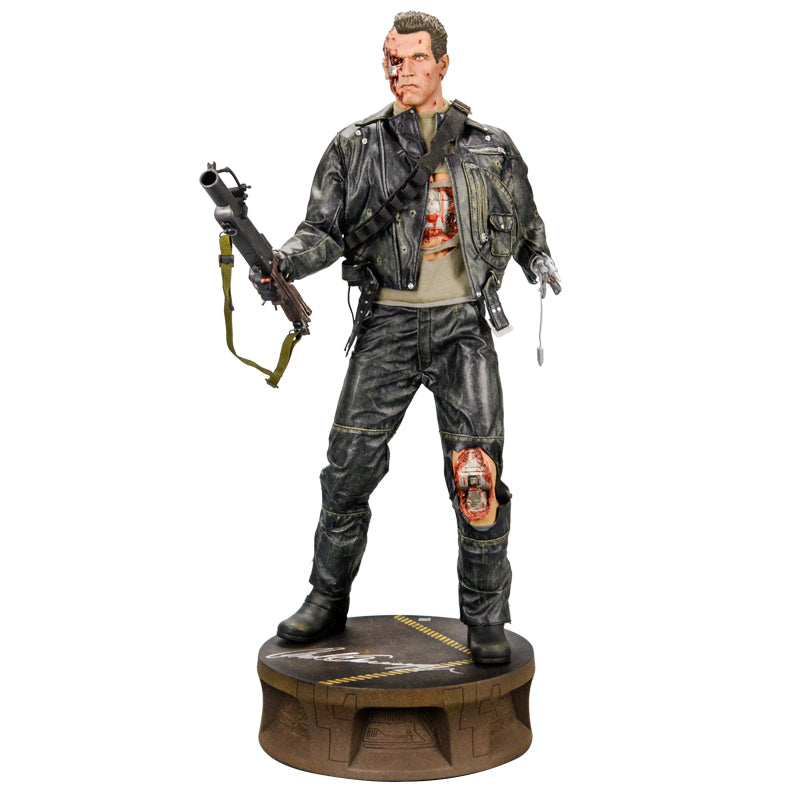 Arnold Schwarzenegger Autographed T2: Judgement Day T-800 Battle Damaged Terminator Statue
