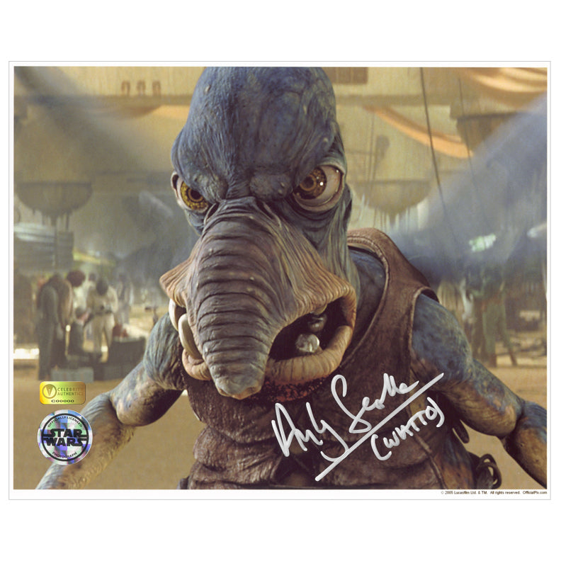 Andy Secombe Autographed Star Wars The Phantom Menace Angry Watto 8×10 Photo
