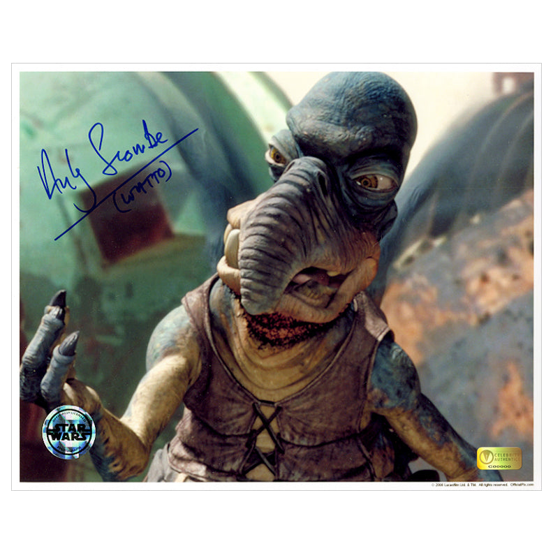 Andy Secombe Autographed Star Wars The Phantom Menace Watto 8×10 Photo
