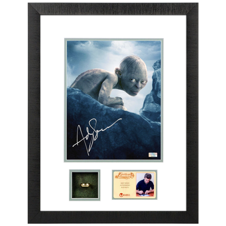 Andy Serkis Autographed Lord of the Rings Gollum 8x10 Photo