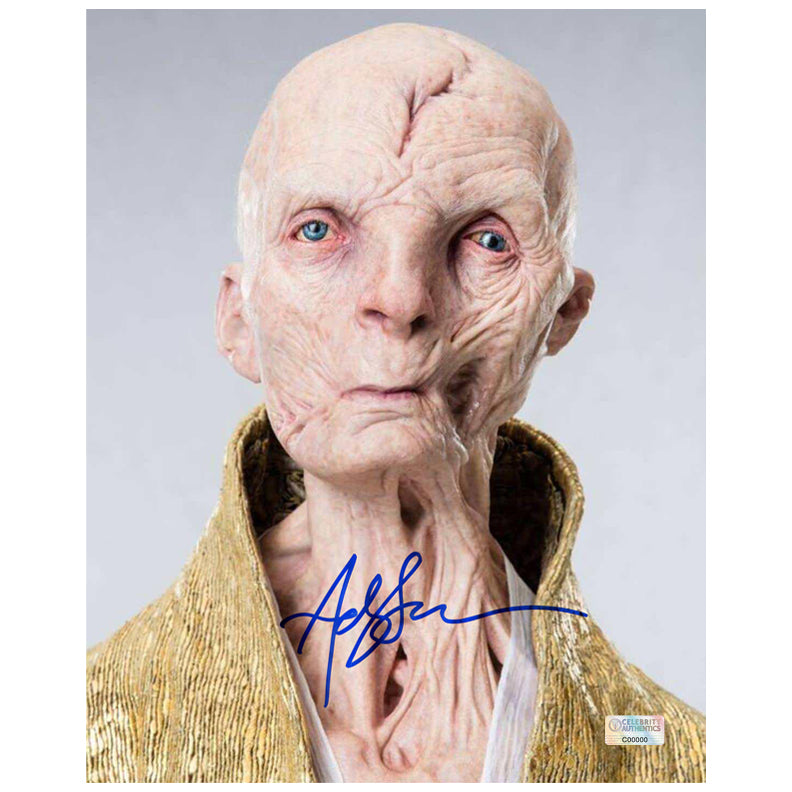 Andy Serkis Autographed Star Wars Supreme Leader Snoke 8x10 Portrait Photo