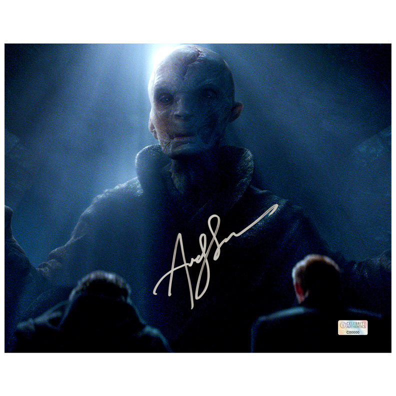 Andy Serkis Autographed Star Wars Supreme Leader Snoke Scene 8x10 Photo