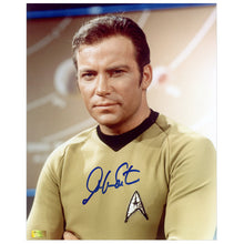 Load image into Gallery viewer, William Shatner Autographed Classic Star Trek Captain Kirk 16x20 Photo
