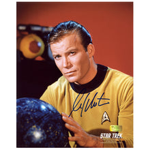 Load image into Gallery viewer, William Shatner Autographed Star Trek Captain Kirk with Star Map 8x10 Photo