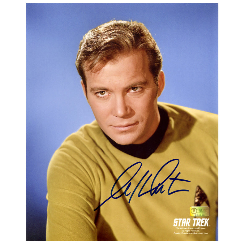 William Shatner Autographed Star Trek Original Series Captain Kirk 8x10 Photo