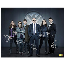 Load image into Gallery viewer, Clark Gregg, Chloe Bennet, Ming-Na Wen, Elizabeth Henstridge and Brett Dalton Autographed Agents of S.H.I.E.L.D. 11x14 Cast Photo