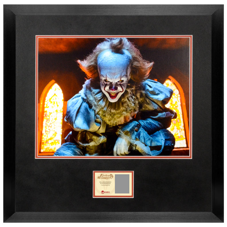 Bill Skarsgård Autographed IT Pennywise Scene 11x14 Photo PRE-ORDER