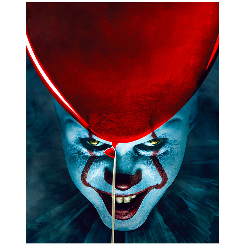 Bill Skarsgård Autographed IT Pennywise Closeup 8x10 Photo PRE-ORDER