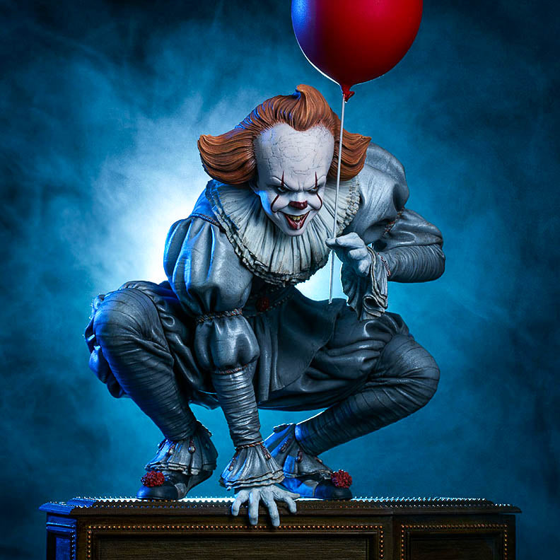 "Bill Skarsgård Autographed IT Pennywise CA Exclusive 13"" Limited Edition Maquette Statue PRE-ORDER"