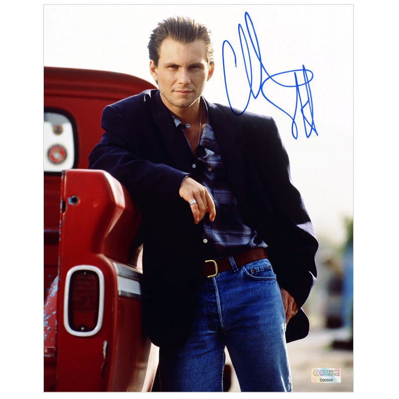 Christian Slater Autographed Casual 8×10 Photo