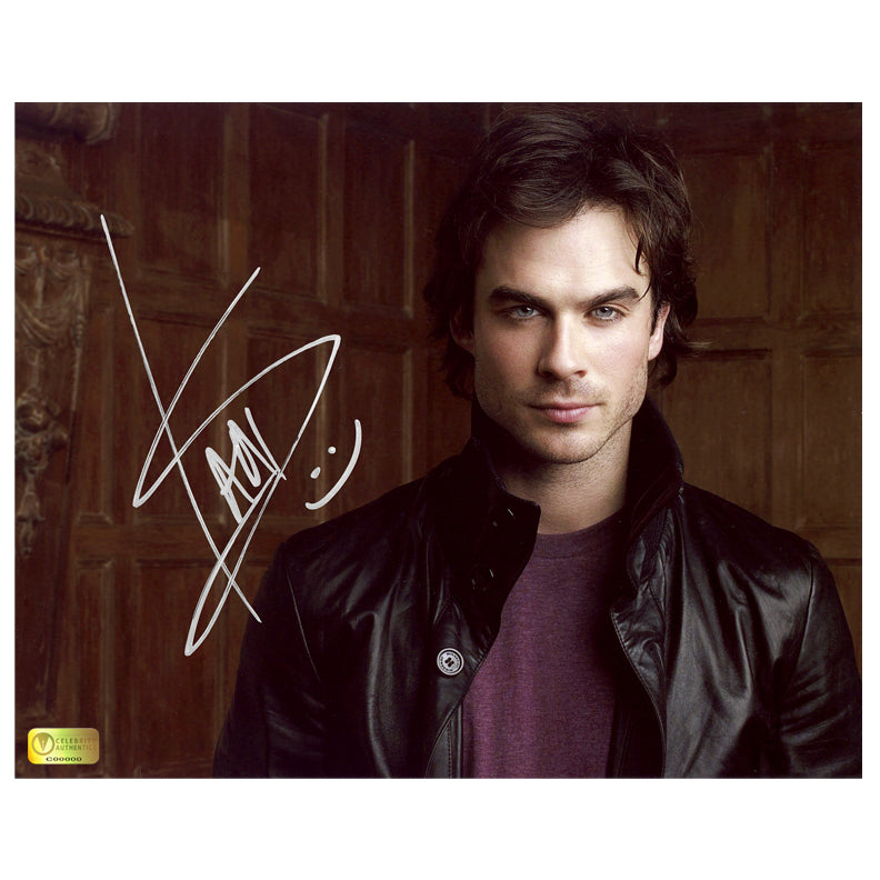 Ian Somerhalder Autographed Vampire Diaries 8x10 Photo