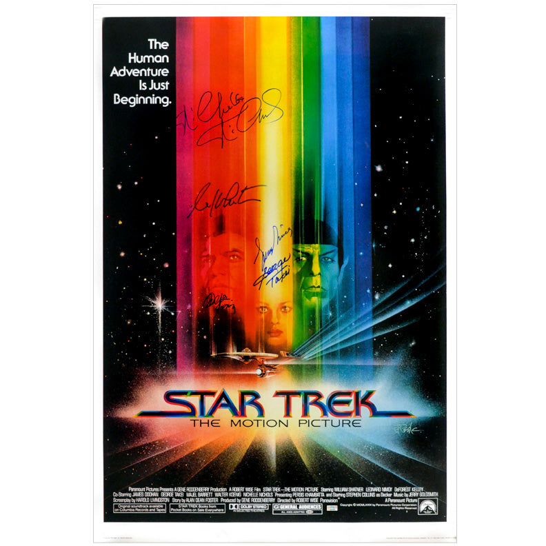 Leonard Nimoy, William Shatner, George Takei, Walter Koenig, Nichelle Nichols Cast Autographed 1979 Star Trek: The Motion Picture 27×40 Single-Sided Movie Poster