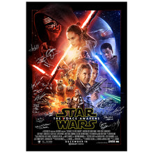 Load image into Gallery viewer, Harrison Ford, Mark Hamill, Adam Driver Star Wars The Force Awakens Cast Autographed Original Double Sided 27×40 Final Style Movie Poster