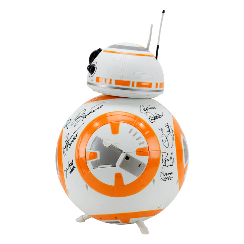 Harrison Ford, Mark Hamill, Adam Driver, Star Wars: The Force Awakens Cast Autographed 18″ BB-8 Droid