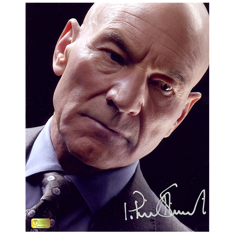 Patrick Stewart Autographed X-Men Professor X 8x10 Portrait Photo