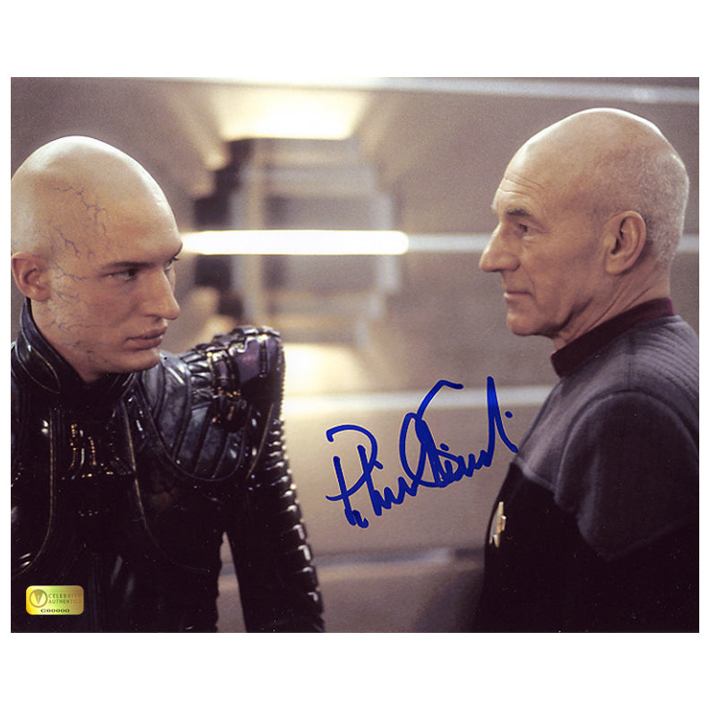 Patrick Stewart Autographed Star Trek Nemesis Picard vs. Shinzon 8x10 Photo