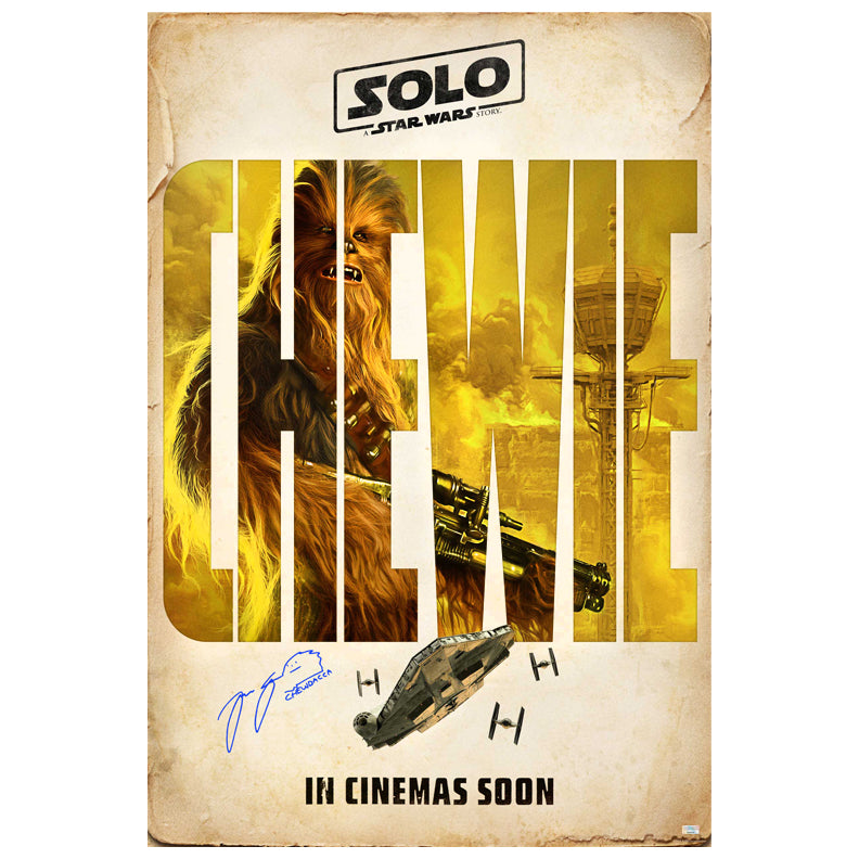 Joonas Suotamo Autographed 2018 Solo A Star Wars Story Original Chewbacca 27x40 Double-Sided Movie Poster