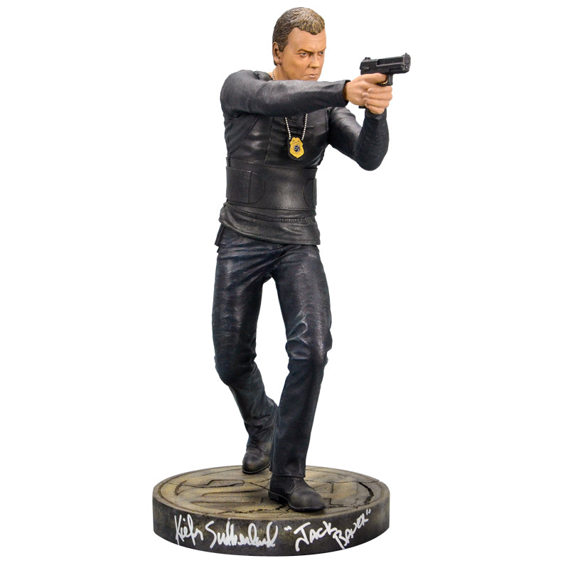 "Kiefer Sutherland Autographed 24 Jack Bauer 19"" 1:4 Scale Statue"