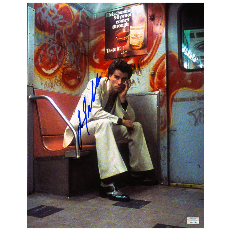 John Travolta Autographed Classic Saturday Night Fever Tony Manero 11x14 Photo